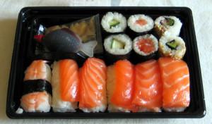 raw fish allergy giardia