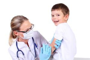 Doctor doing desensitizing allergy injection